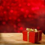 Caja de regalo roja Fotografía de archivo