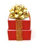 Caja de regalo roja Fotos de archivo libres de regalías