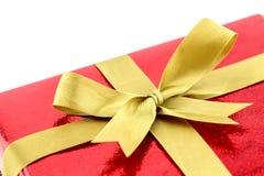 Caja de regalo roja, Año Nuevo del concepto Foto de archivo
