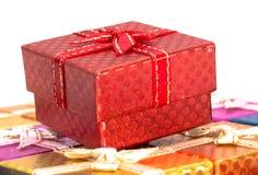 Caja de regalo roja del primer Imagenes de archivo