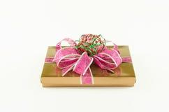 Caja de regalo rosada Foto de archivo
