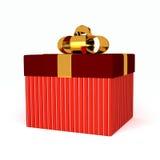 Caja de regalo sobre el fondo blanco Foto de archivo libre de regalías