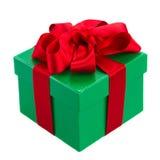 Caja de regalo verde Imagenes de archivo
