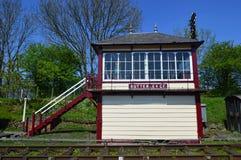 Caja de señal de Butterley en el ferrocarril de Midland imagenes de archivo