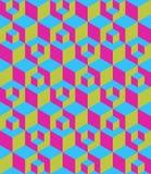 Caja de tres dimensiones inconsútil Foto de archivo