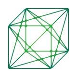 Caja de triángulos logarítmicos fotos de archivo