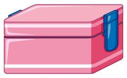 Caja del almuerzo en color rosado ilustración del vector