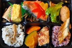 Caja del almuerzo japonesa - bento Fotografía de archivo libre de regalías