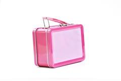 Caja del almuerzo rosada Imágenes de archivo libres de regalías