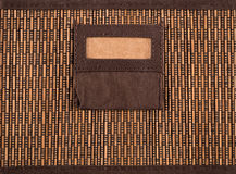 Caja del bambú de Brown Imagen de archivo libre de regalías