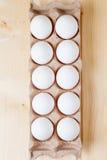 """Caja del cartón con imagen de la acción del eggs†"""" Imágenes de archivo libres de regalías"""