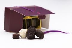 Caja del chocolate Imagen de archivo