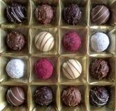 Caja del chocolate imagenes de archivo