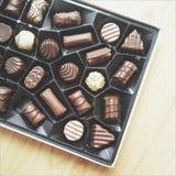 Caja del chocolate Imágenes de archivo libres de regalías