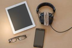 Caja del cuaderno móvil del auricular pequeña Imagenes de archivo