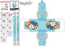 Caja del diseñador para el huevo del regalo de los niños libre illustration