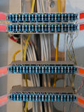 Caja del dispositivo de distribución de la comunicación del teléfono Fotografía de archivo