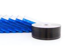 Caja del DVD con el disco fotos de archivo