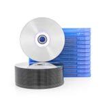 Caja del DVD con el disco fotografía de archivo