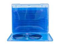 Caja del DVD con el disco en blanco fotografía de archivo libre de regalías