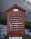 Caja del fuego del vintage Foto de archivo libre de regalías