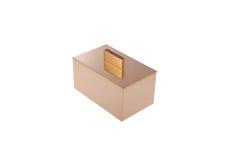 caja del metal del oro para el cosmético Imagen de archivo