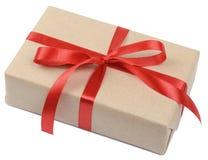 Caja del paquete del regalo Foto de archivo libre de regalías