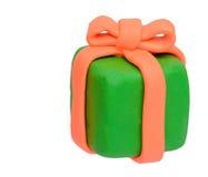 Caja del presente de la arcilla de la plastilina Fotos de archivo libres de regalías
