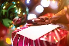 Caja del presente del Año Nuevo Imagen de archivo libre de regalías