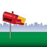 Caja del Spam Fotografía de archivo libre de regalías