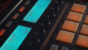 Caja del tambor con los cojines del centelleo almacen de metraje de vídeo