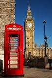 Caja del teléfono de Westminster Fotos de archivo