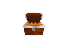 Caja del tesoro Imagen de archivo libre de regalías