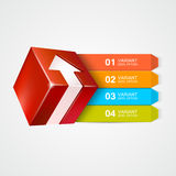 Caja del vector con la flecha Concepto de Infographics Imagen de archivo