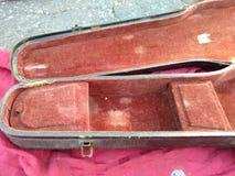 Caja del violín Fotografía de archivo