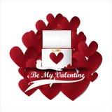 Caja delantera del anillo de la tarjeta del día de San Valentín del vector Foto de archivo