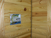 Caja eléctrica distributiva Fotografía de archivo libre de regalías