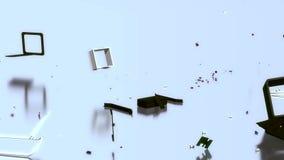 Caja electonic quebrada almacen de metraje de vídeo