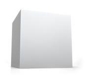 Caja en blanco del cubo Imagen de archivo libre de regalías