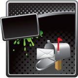 Caja en el anuncio de semitono negro stock de ilustración
