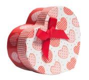 Caja en forma de corazón fotografía de archivo libre de regalías