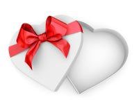 Caja en forma del corazón Foto de archivo