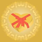 Caja en forma del corazón Foto de archivo libre de regalías