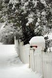 Caja en un día Nevado Imágenes de archivo libres de regalías