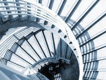 Caja espiral de la escalera Fotografía de archivo