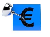 Caja euro con los engranajes Imagenes de archivo