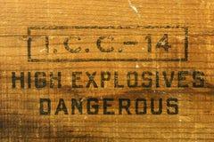 Caja explosiva Imágenes de archivo libres de regalías