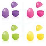 Caja Fillable abierto-cerrado del huevo de Pascua