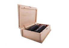 Caja formada libro del vino Imagenes de archivo
