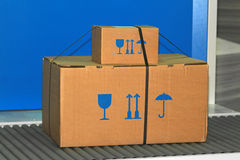 Caja frágil Imágenes de archivo libres de regalías